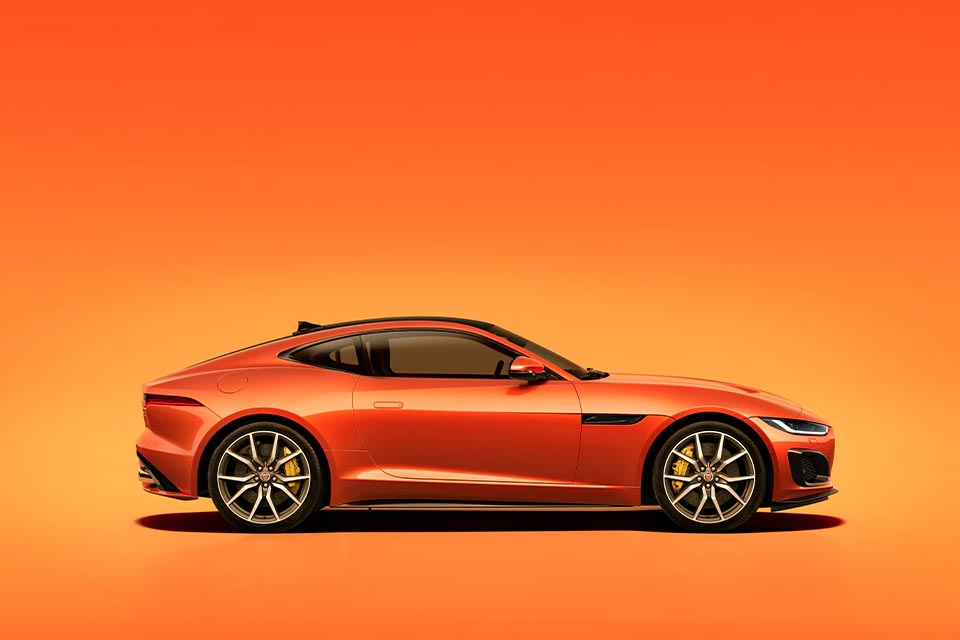 The luxury Jaguar sports car